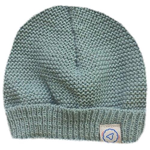 MLT Bonnet de Naissance bébé (Gris Vert), tricoté en France