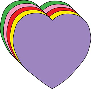 "5.5"" Heart Large Assorted Color Creative Cut-Outs, 31 Cut-Outs in a Pack for Kids' Love and Peace School Craft Projects, Valentine's Day Craft."
