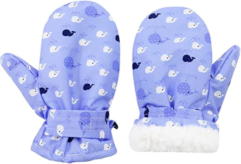 BESTORI Toddler Winter Mittens Warm Fluffy Gloves Cute Thicken Waterproff Mittens Birthday Xmas Gifts for 1-4 Y Kids