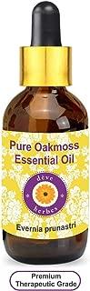 Deve Herbes Pure Oakmoss Essential Oil (Evernia prunastri) with Glass Dropper 100% Natural Therapeutic Grade Steam Distilled 30ml (1.01 oz)