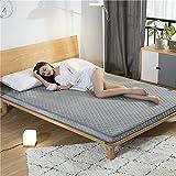HYXL Adorno de bambú carbón Respirable Gruesa Antideslizante Piso colchón cojín Cama 3D trampolín Tatami Estera para Dormir Siesta cojín Dormitorio-L 90x190cm(35x75inch)