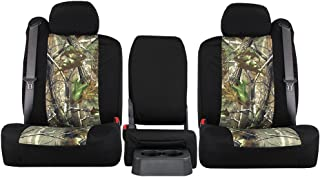 Third Row SEAT: ShearComfort Custom Realtree Camo Seat Covers for Chevy Tahoe (2000-2006) in APG Sport for 50/50 Split Bench w/Adjustable Headrests and Seatbelts in Backrest