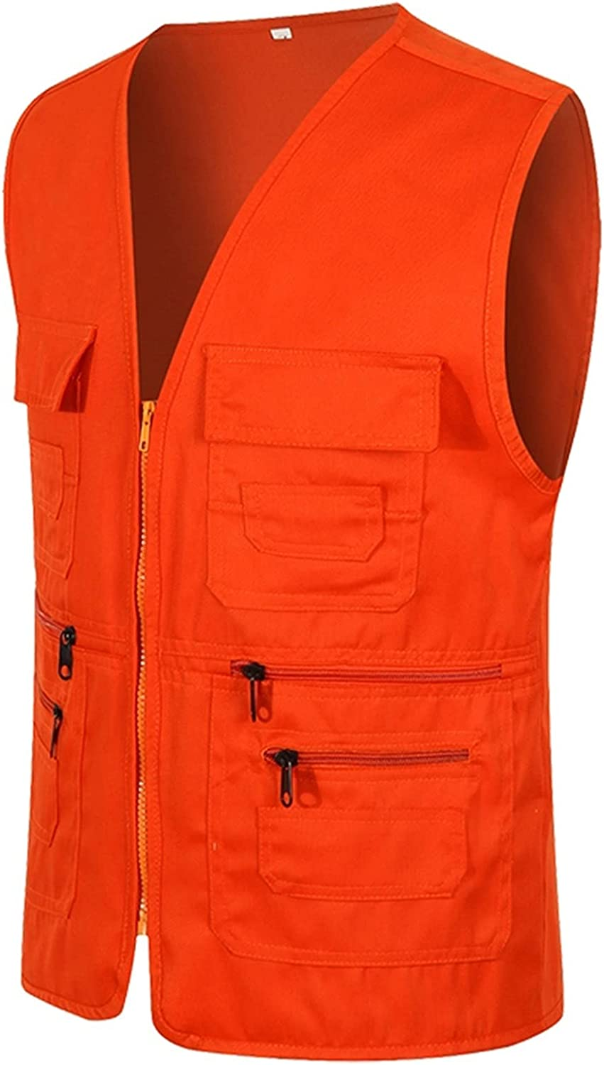 llddrz Fishing Vest 2021 spring and summer new Now free shipping Mens Waistcoa Multi-Pocketed Gilet Waistcoat