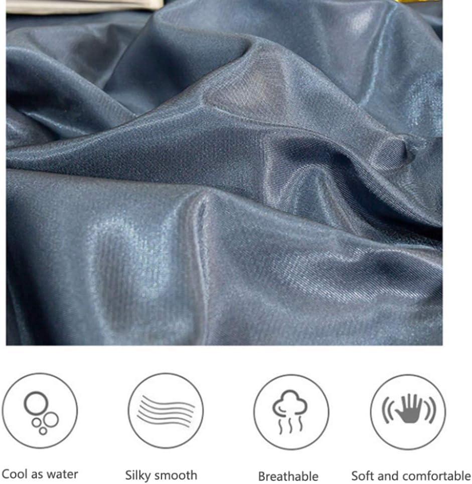 TRGCJGH Tapis De Soie De Glace Tapis D'été De Bande Dessinée Double Grand Drap De Lit Pliable Lavable Taie d'oreiller sans Formaldéhyde,3-200 * 220CM 5-200*220cm