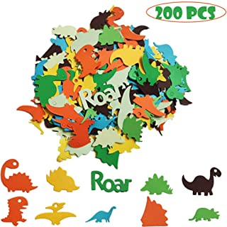 Dinosaur Confetti Dino Jungle Jurassic Table Confetti T-Rex Roar Baby Shower Birthday Party Supplies Decorations Table Scatter Decor Photo Booth Props