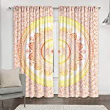 Cortina de indio Ombre Mandala Set exótica vida cama habitación ventana Drapes decoración algodón bohemio conjunto de tul puerta ventana cortina Panel Drape Cortinas por handicraft-palace