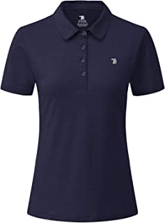 Rdruko Women's Dry Fit Golf Shirts Moisture Wicking Short Sleeve Polo Sports Shirts