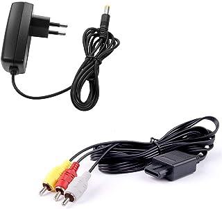 Lot pour console Super Nintendo (SNES) : chargeur secteur alimentation + cable video composite AV