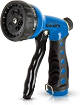 Signature Garden Heavy-Duty Nozzle, Comfort-Grip 8 Different Spray Patterns for Watering..
