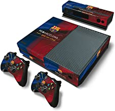 Microsoft Xbox One Skin Decal Sticker Set - FC Barcelona (1 Console Sticker + 2 Controller Stickers + 1 Kinect Sensor Sticker)