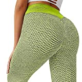 Dwevkeful Damen Sport Leggings High Waist Push Up Slim Fit Sportleggins Kompressions Lange&Cropped Leggings mit Bauchkontrolle Fitnesshose Sporthose Elastische Yoga Pants