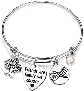 Friends are Family We Choose Bracelet Gift for Best Friends Sister
