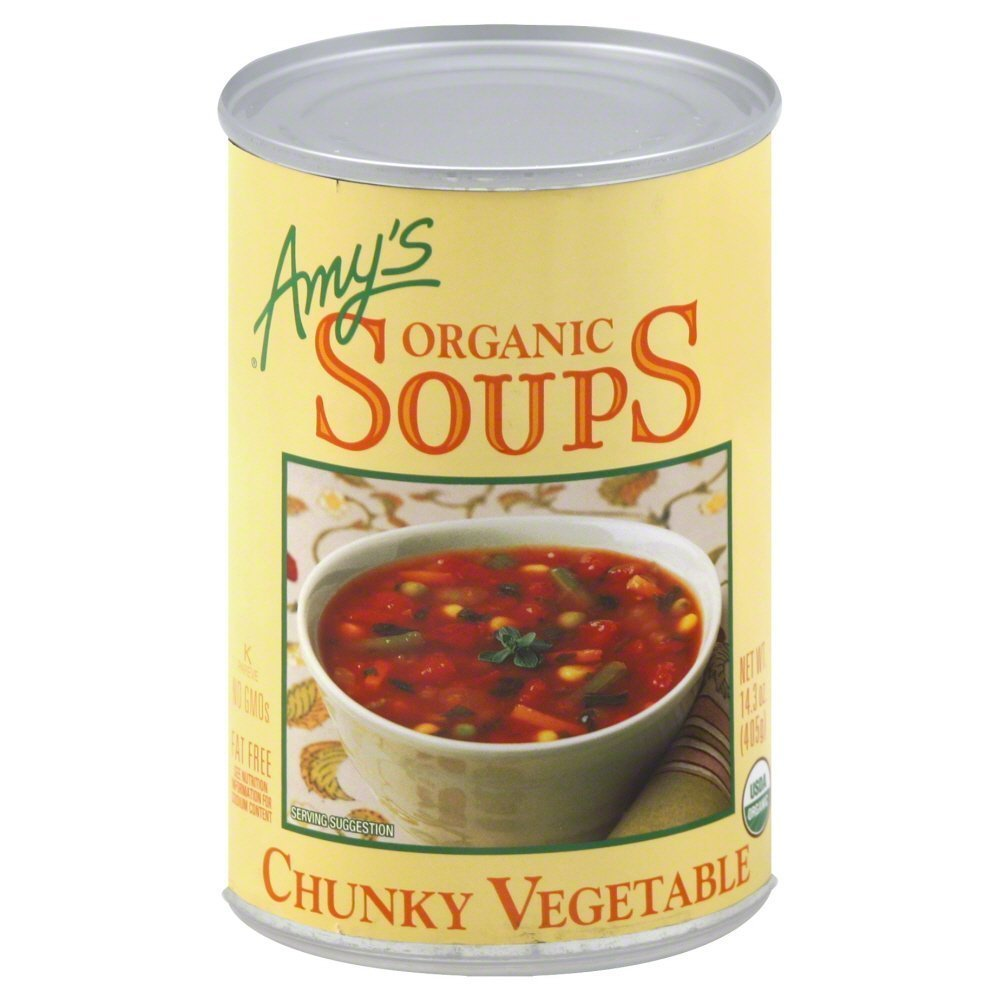 Amy's Organic Year-end Max 71% OFF annual account Chunky Vegetable Soup 6 Pack 14.3 of OZ