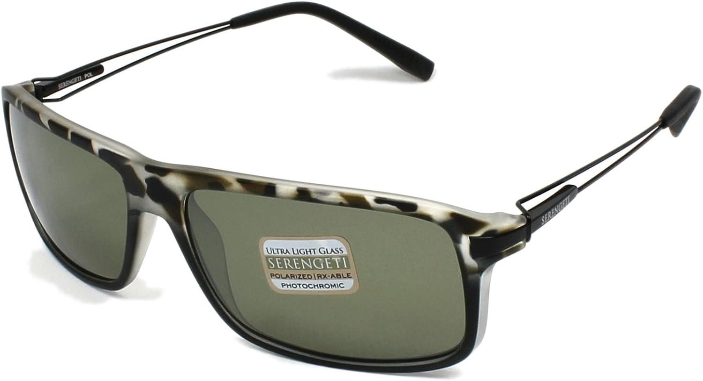 Serengeti Flex Coll. Rivoli Sunglasses Frame 7766 Satin Black Tortoise New