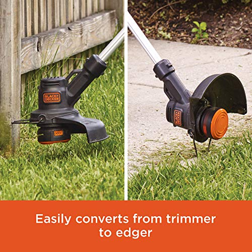 BLACK+DECKER 20V MAX String Trimmer / Edger and Sweeper Combo Kit, 10-Inch (LCC222)