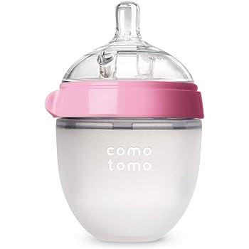 Comotomo Natural Feel Baby Bottle, Pink, 5 Ounce