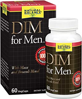 Natural Balance DIM for Men | Hormone Balance Supplement for Energy, Vitality & Mood Support | With Maca & Broccoli Extract | 60 VegCaps, 60 Servings