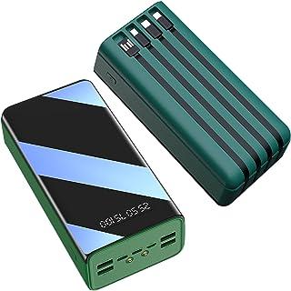 Power Bank bärbar laddare 60000 mah Ultrakompakt externt batteri Strömbanker LED-skärm 7 utgång Inbyggd i 4 typer Kablar E...