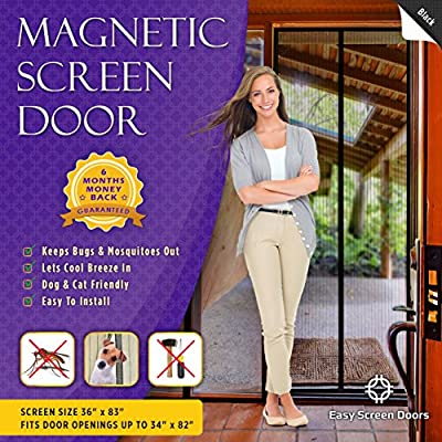 Magnetic Screen Door, Mesh Curtain - Keeps Bugs & Mosquitoes Out, Lets Cool Breeze In - 6 Month – Premium Quality - Toddler And Pet Friendly