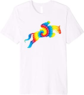 Tie Dye English Hunter Jumper Girl Riding Horse Tee Gift