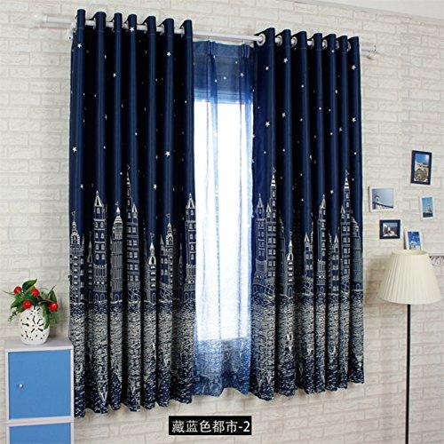 fgdsa Kinder Volle Verdunkelung Schlafzimmer Halb Vorhang,verschleißbeweis Anti-verfärbung Thermal Dimout Vorhang,1 Stück-b 250x200cm(98x79inch)