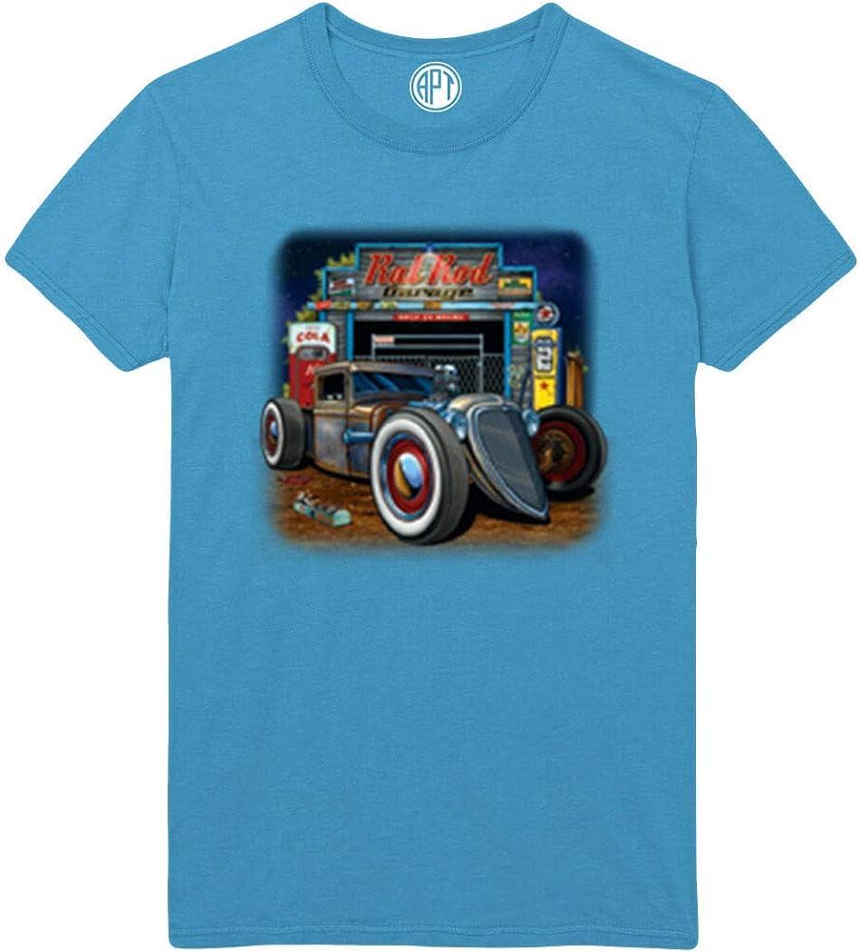 Rat Rod Garage Printed T-Shirt