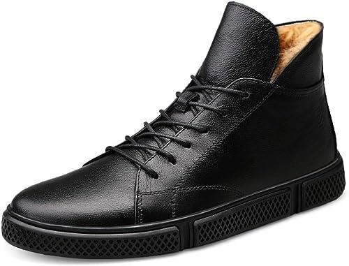 BND-chaussures , Bottes de Travail pour Hommes de la Mode Décontracté Hiver Nouveau Style Simple Polaire à l'intérieur de la Botte Haute (conventionnel en Option) Durable; Supporter l'usure