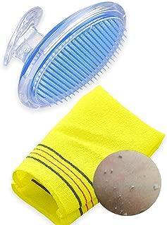 Exfoliating Brush Ingrown Razor Treatment - Korean Exfoliating Mitt Bath Body Brush Gloves Scrub Washcloth Towel Large Dead Skin Care Set - Bikini Line Exfoliator Razor Bumps and Shaving Irritation