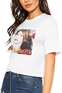 Womens Crop Tops Lovely Women Shania Twain Come On Over T Shirt