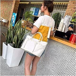 Fashion Single-Shoulder Bags Canvas Shoulder Travel Bag Leisure Sport Handbag (Color : White)
