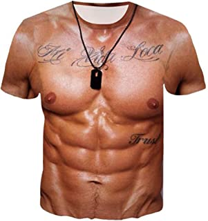 Mens Fashion Shirts Unisex Holiday Shirt Rude Stag Party Fancy Dress Shirt 3D Offensive Boobs Printed Tee