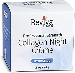Reviva Labs Collagen Night Cream, 1.5 Ounce