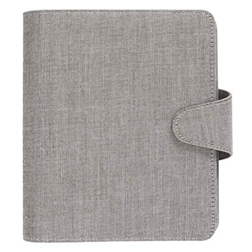 kikki.K Dream. Plan. Do. Designer Collection - B6 Linen-Look Personal Planner Nordic Grey, 280 Pages, Includes Non Dated Calendar, Tab to Do List, Tab Meeting Notes, Tab 4 Blank Tabs with Notes Pages