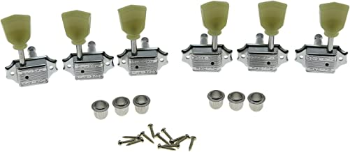 Wilkinson Chrome 3x3 Deluxe Vintage Tuners Guitar Tuning Keys Guitar Machine Head for Les Paul