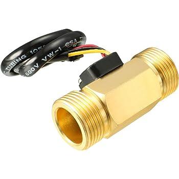 DC 250V Brass G1//2 Inner Threaded Magnetic Water Flow Switch Flowmeter 1-30L//min SEN-CL21N