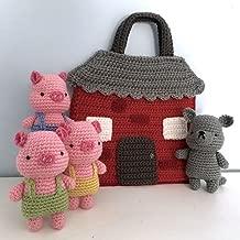 Three Little Pigs Crochet Playset Pattern
