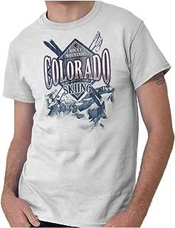 Colorado Flag Mountain State Sun Country Hometown USA T Shirt