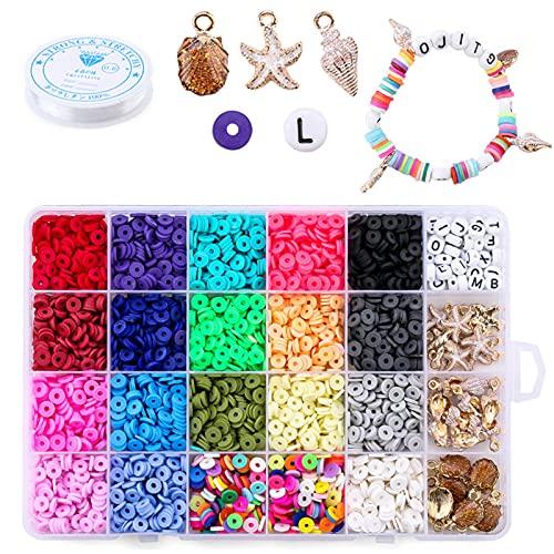 Children DIY Beads Set 6MM 4080 Pcs Bracelet Bead Art & Jewellery-Making...
