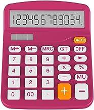 $48 » Yusuo Solar Office Desktop Calculator and Battery Dual-Power Electronic Calculator 12-bit Large LCD Display Calculator