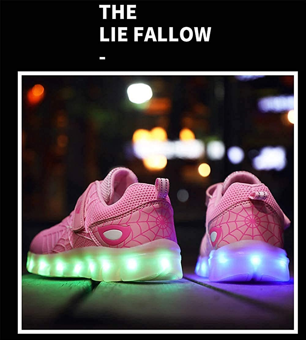 Kids Light Up Shoes USB Charging Flash Waterproof Sneakers for Boys Girls Best Gift for Birthday Christmas Thanksgiving Day