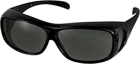 LensCovers Sunglasses Wear Over Prescription Glasses-Large Slim- Polarized