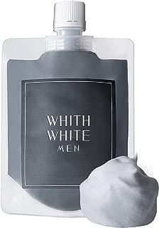 フィス ホワイト メンズ 泥 洗顔 ネット 付き 8つの 無添加 洗顔フォーム (炭 泡 クレイ で 顔 汚れ を 落とす) (日本製 洗顔料 130g リッチ セット)(どろ で 毛穴 を ごっそり 除去)