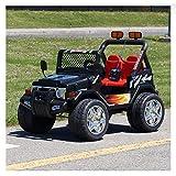 www.funstuff.ie KIDS 12V RAPTOR ELECTRIC RIDE ON CAR 4X4 JEEP | 2-SEATER | REMOTE CONTROL | BLACK