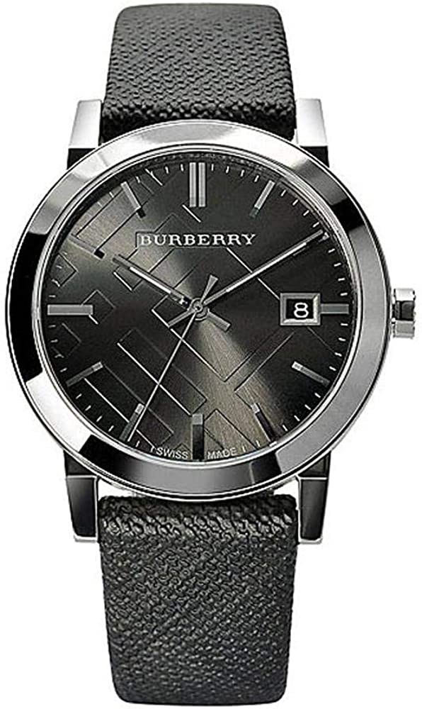 Burberry,orologio unisex,cinturino in nylon e cassa in acciaio BU9024