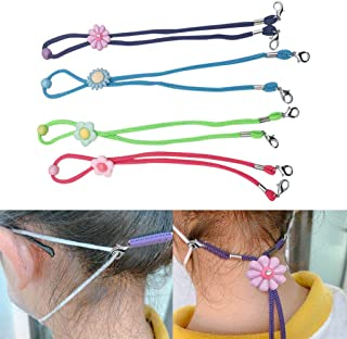 Face ᴍᴀsᴋ, Vansee 4 Pack Adjustable Face Lanyard Handy&Convenient Safety Rest&Ear Holder Rope
