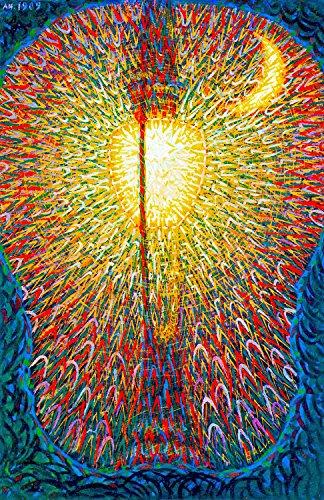 "Street Light - By Giacomo Balla - Canvas Prints 16"" by 25"" Unframed"