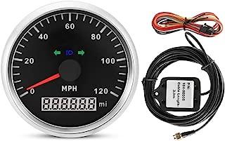 Aramox GPS Speedometer, 85mm 200MPH Motorcycle GPS Speedometer, Odometer Mileage Adjustable Overspeed Alarm Meter Gauge
