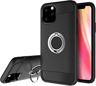 Olixar for iPhone 11 Pro Max Ring Case - X Ring - Finger Loop - Rotating Kickstand and Media Viewing Stand - Finger Loop - Black
