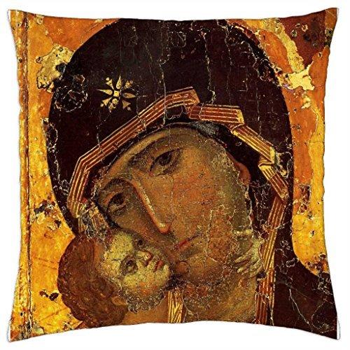 Die meisten Heiligen Gottesmutter von Wladimir–Überwurf Kissenbezug Fall (40,6x 40,6cm)