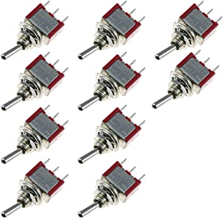 Etopars 10 X On/Off/On Momentary Mini Miniature Toggle Switch Car Dash Dashboard SPDT 3Pin